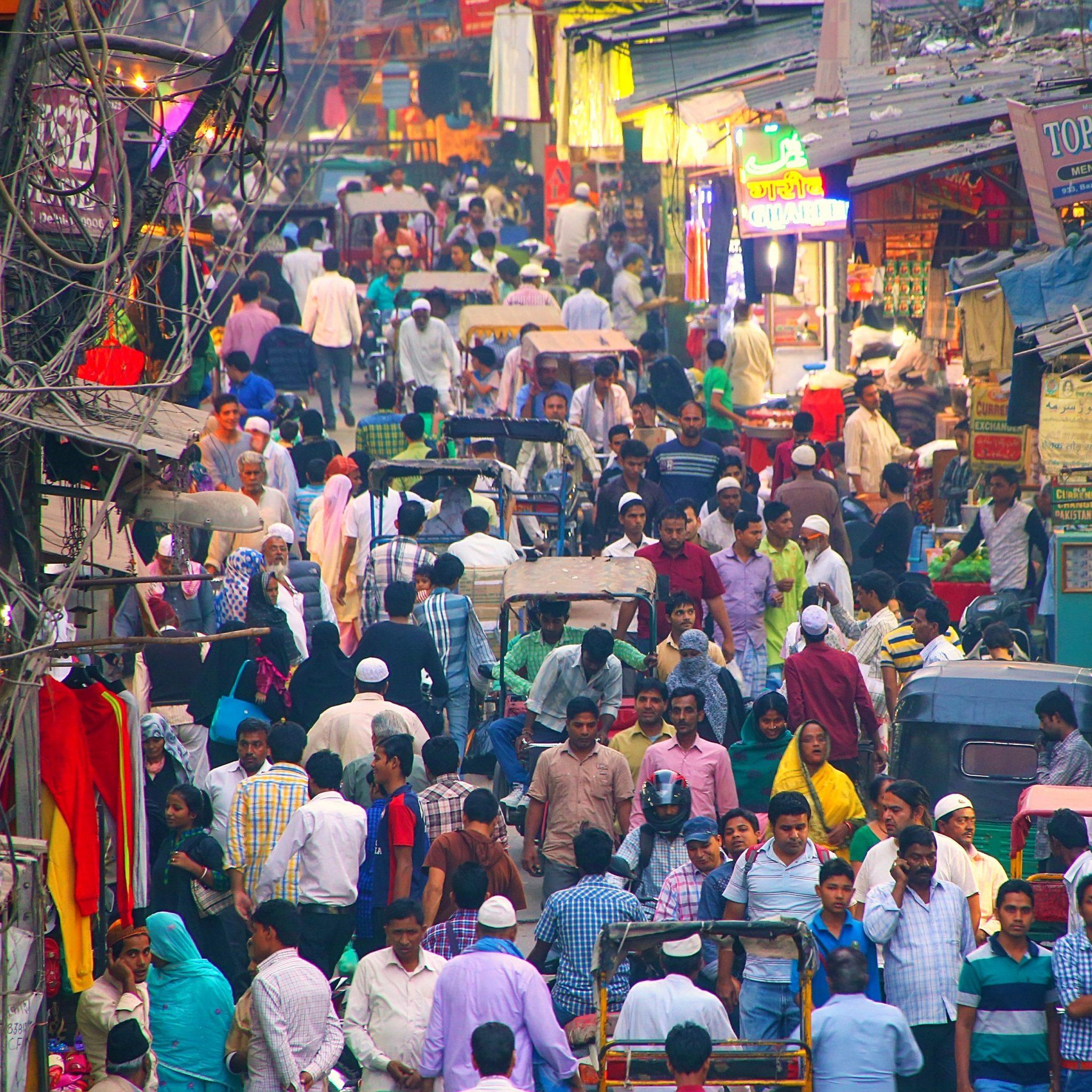 Ruas Delhi na Índia