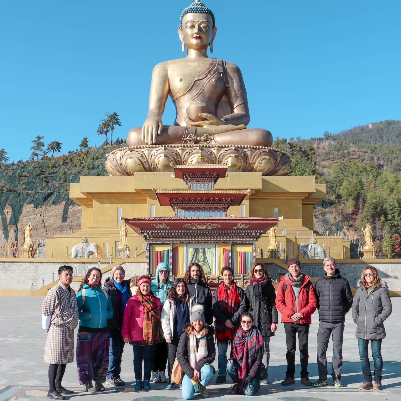 Grupo em Peregrinação ao Butão